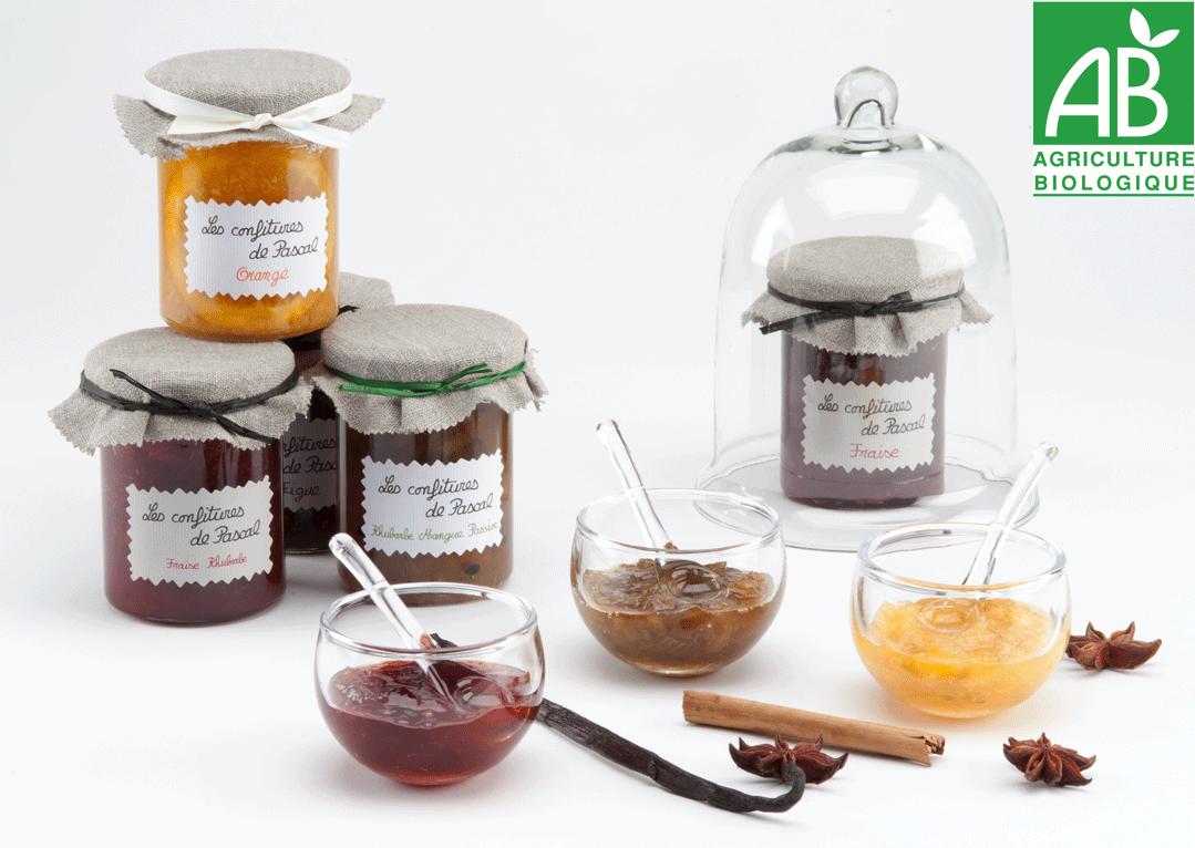 Des confitures artisanales gourmandes BIO confectionnées avec passion comme les réalisaient nos grands mères